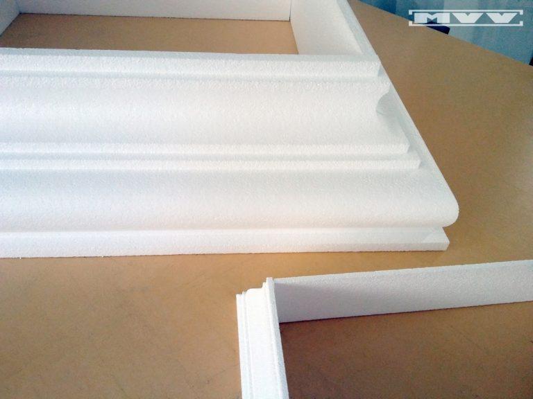 База от стиропор за квадратна колона